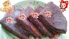 紫薯鸡蛋火腿煎饼