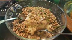香菇肉末土豆泥