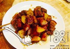 脆皮土豆红烧肉