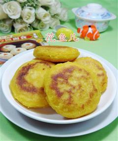 椰蓉馅玉米粉煎饼