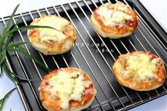 健康鲜虾迷你披萨