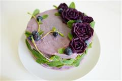 紫薯沙拉蛋糕