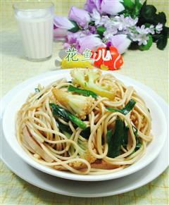 花菜素炒面