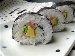 牛油果火腿寿司