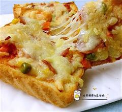 吐司培根披萨