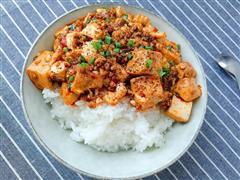 麻辣豆腐盖浇饭