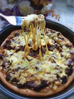 黑椒牛肉土豆泥披萨