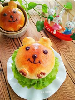 萌熊猪肉汉堡
