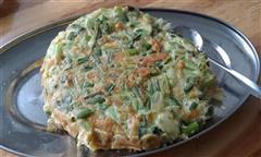 芹菜蒜苔肉松煎饼
