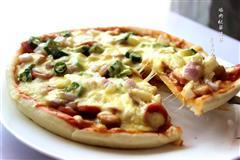 鸡肉秋葵披萨
