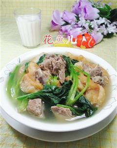 油条菠菜排骨汤