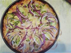 培根香菇披萨