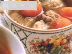 山楂莲叶排骨汤