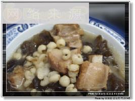 木耳薏米排骨汤