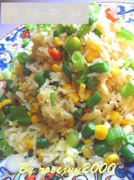 四季豆玉米蛋炒饭