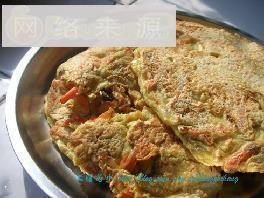 胡萝卜虾皮鸡蛋饼