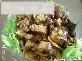 腐皮红烧鸡+红烧肉