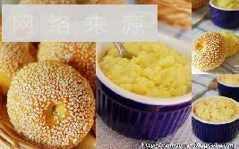 胡萝卜餐包+牛奶土豆泥抹酱,土豆泥沙拉