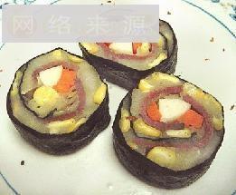 土豆泥肉片寿司卷