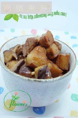荤素搭配的美味 无油香菇红烧肉