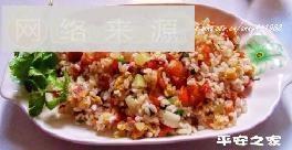 培根虾仁杂蔬蛋炒饭