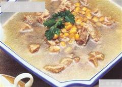黄豆炖排骨汤