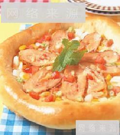 义式燻鸡披萨