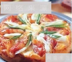 青蒜香肠披萨