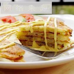 土豆煎饼早餐