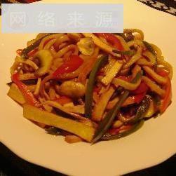 豆腐干柿椒炒面