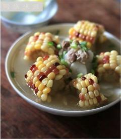 色香味俱全的好汤-五彩珍珠排骨汤