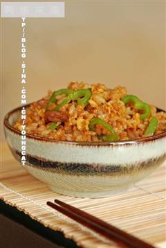 青椒肉丝蛋炒饭