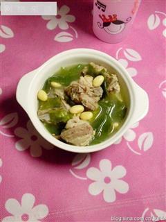 黄豆裙带排骨汤