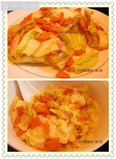 胡萝卜鸡蛋土豆泥