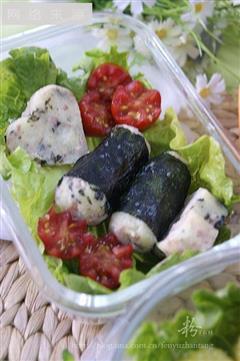 海苔肉末土豆泥便当