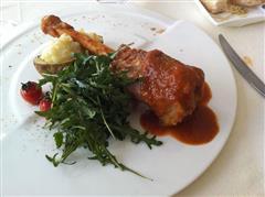 番茄小羊腿配奶酪土豆泥沙拉