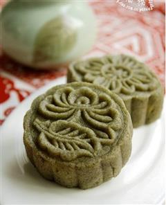 绿茶冰皮月饼