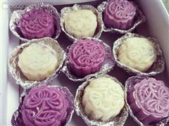 自制紫薯冰皮月饼人50g/个