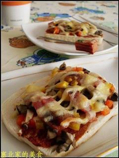 馒头片培根披萨