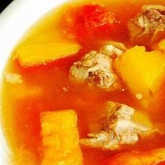 木瓜花生排骨汤