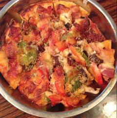 培根玉米披萨