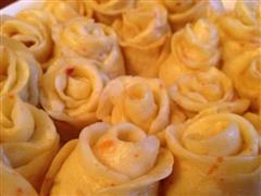 改良版奶香地瓜玫瑰馒头