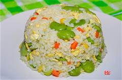 黄油蚕豆蛋炒饭
