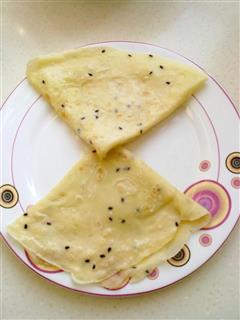 黑芝麻鸡蛋饼