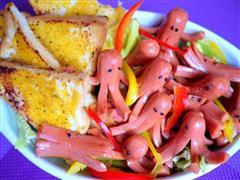 西式紅章魚佐沙拉