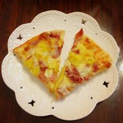培根菠萝披萨