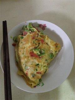 青椒火腿鸡蛋饼