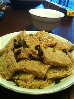 豆豉炒面筋