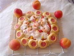 花边鲜虾彩椒披萨