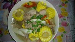 玉米萝卜山药排骨汤